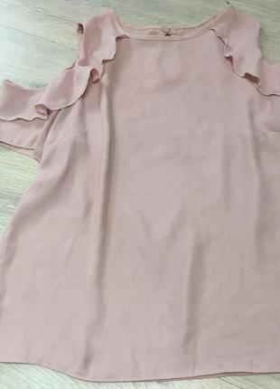 Пудровая блузка