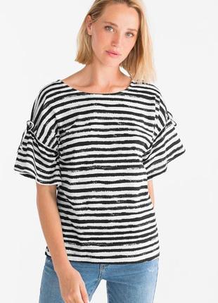 Блуза футболка просторная c&a yessica, биохлопок р.48-50-52