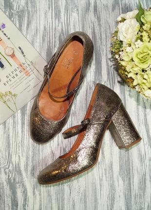 🌿бесплатная доставка 🌿next. красивые золотые туфли на удобном каблучке