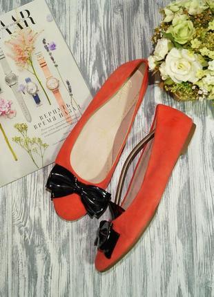 Clarks. замша. красивые туфли, балетки на низком ходу