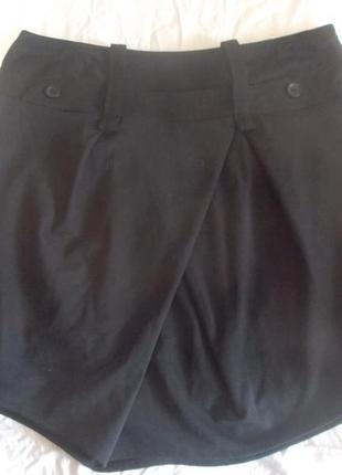 Юбка черная оригинального кроя ya-ya sofisticated