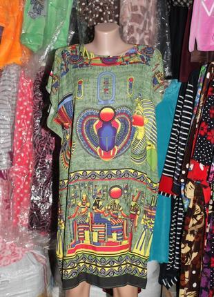 Летнее платье-футболка туника