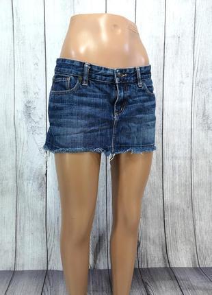 Юбка мини abercombie & fitch, джинсовая