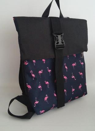 Рюкзак ролл фламинго