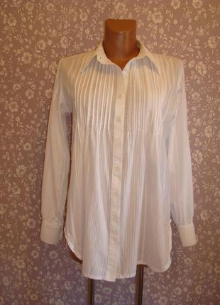 Рубашка удлиненная, хлопковая, размер 8-10