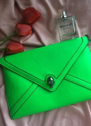 Клатч-конверт в ярком неоновом цвете ♥