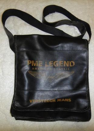 Pme legend мужская сумка через плечо, кож зам