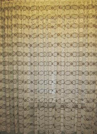 Готовая гардина тюль 8,5 х 2,25 м в гостиную, спальню