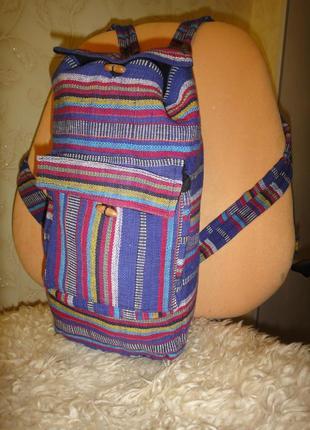 Вместительный прочный рюкзак торба на подкладке непал