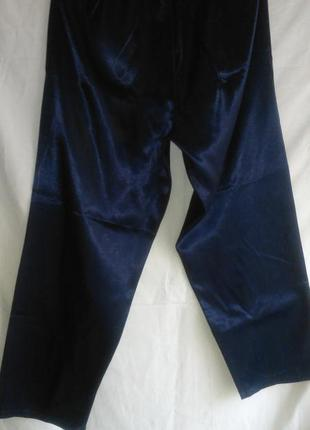 Пижамные брюки женские  тёмно синие