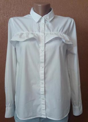 Рубашка хлопковая с воланам размер 6 h&m