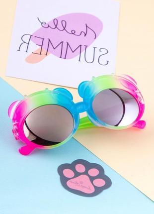 Детские солнцезащитные очки с зеркальными стёклами