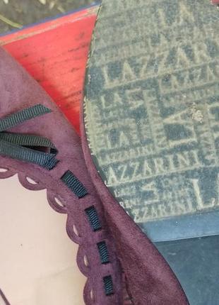 Замшевые туфли лодочки от lazzarini  италия3 фото