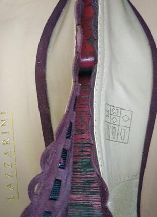 Замшевые туфли лодочки от lazzarini  италия4 фото