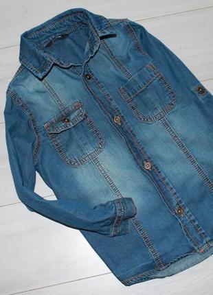 Рубашка джинс на 3-4 года george