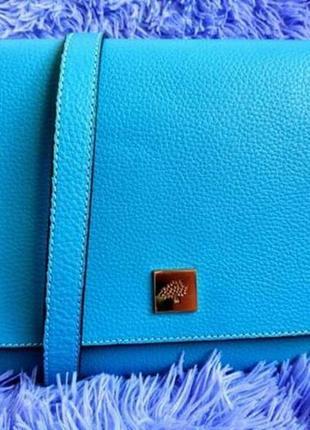 Яркая кожаная сумка mulberry