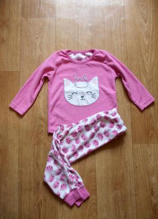 Пижама 3-4 года, 104 см, young dimension, флис