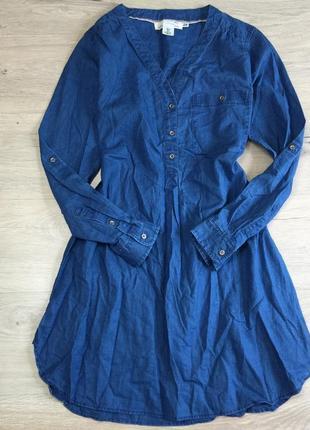 Тонкое джинсовое платье рубашка