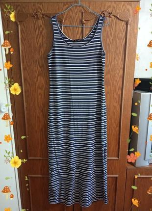 Стильное, брендовое, полосатое платье в пол. бренд dorothy perkins. размер eur 38/10