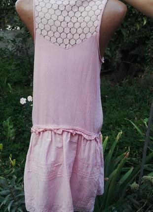 Платье next хлопок с кружевной спинкой