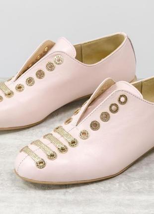 Кожаные эксклюзивные туфли