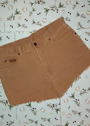 Акция 1+1=3 крутые фирменные короткие шорты с необработаным низом wrangler, размер 48 - 50