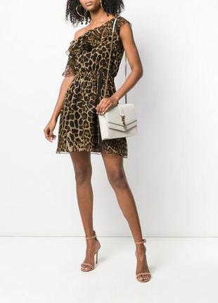 Леопардовое платье на одно плечо miss selfridge