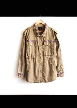 Куртка парка brave soul с вышивкой