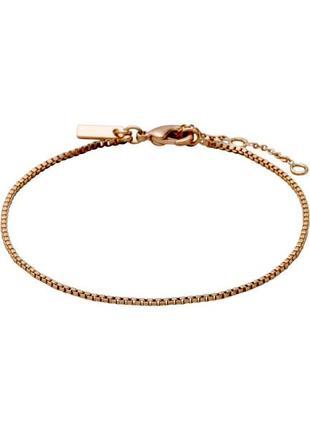 Браслет тонкая цепочка розовое золото pilgrim дания
