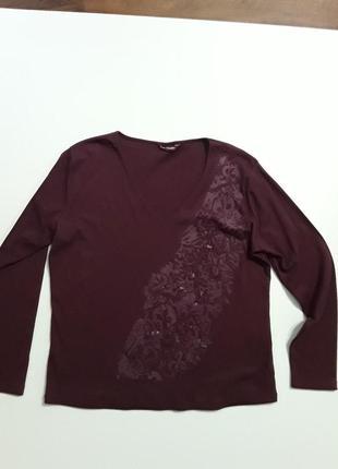 Фирменный реглан лонгслив блуза sarah hamilto