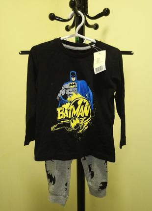 "Хлопковая пижама/домашний костюм  для мальчика ""бэтмен"" lupilu"