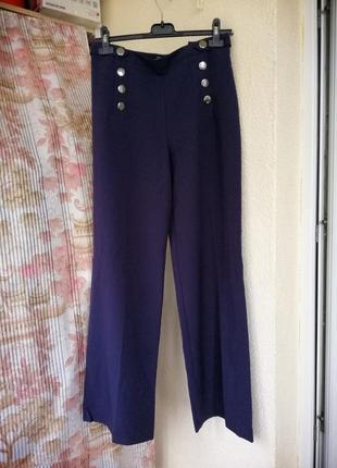 Розкішні сині брюки з високою посадкою!