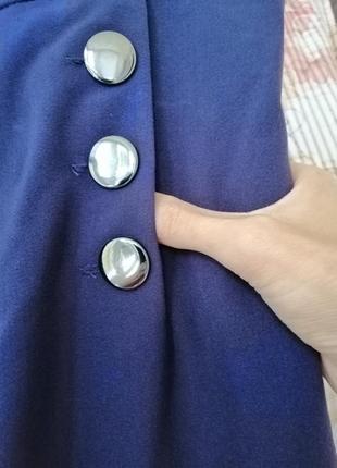 Розкішні сині брюки з високою посадкою!2 фото