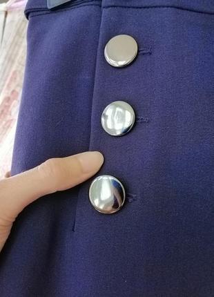 Розкішні сині брюки з високою посадкою!3 фото