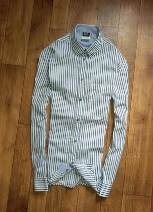 Оригинальная мужская белая рубашка dolce&gabbana