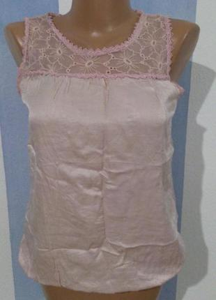Прекрасна ніжна блуза хб натуральний шовк італія