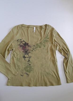 Фирменный реглан лонгслив блуза marks & spencer