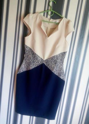 Шикарное платье футляр платье с кружевом платье миди