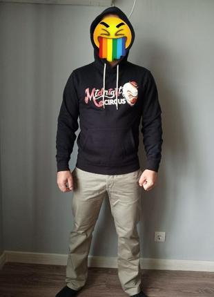 Брутальный худи кофта свитер толстовка с клоуном