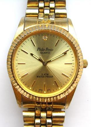 Philip persio мужские часы из сша оригинал мех. japan miyota wr3atm