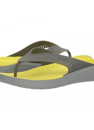 Вьетнамки crocs literide flip gray