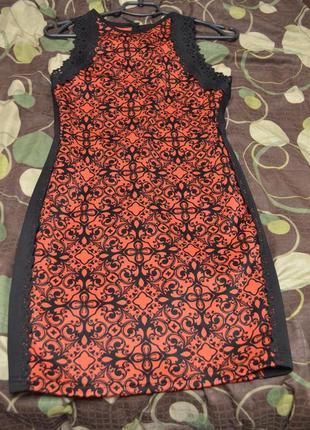 6 красно черное платье