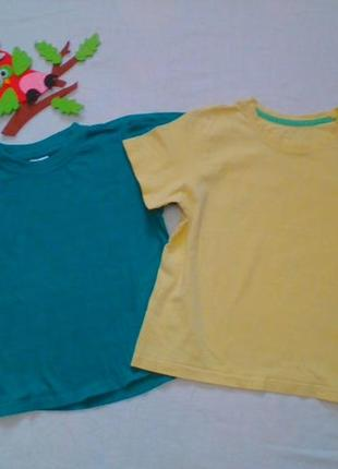 Две футболки на плотненьких мальчишек 5- 7 лет