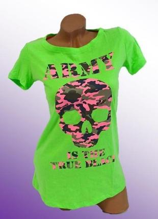 Яркая женская футболка, 100% хлопок