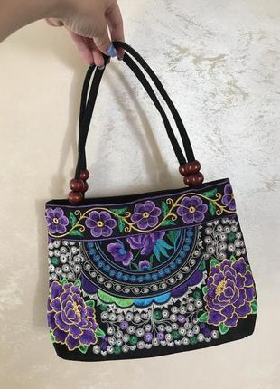 Сумка сумочка клатч кросбоди  кошелёк сумка вышитая