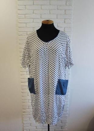 Очень легкое летнее штапельное платье больших размеров