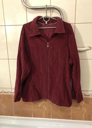 Куртка бомбер рубашка на замке бархатная