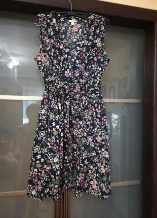 Отличный легкий сарафан, платье,  цветочный принт
