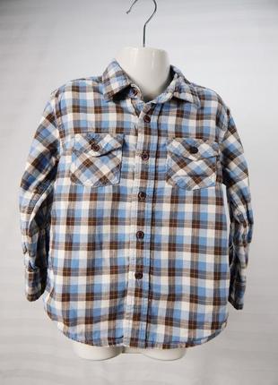 Рубашка в клетку с длинным рукавом 4 - 5