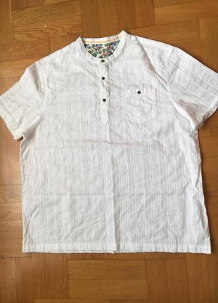 Льняная хлопковая легкая рубашка р.52-54
